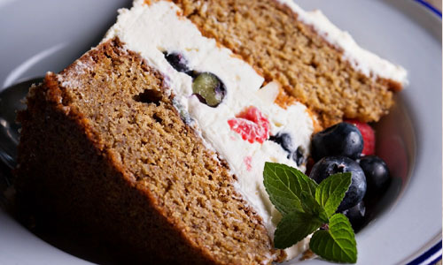 Безглютеиновый торт с кремом из маскарпоне