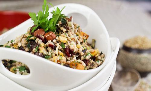 Весенний салат с гречкой